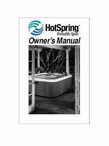 Hot Springs Spa  Hot Tub Owners Manual