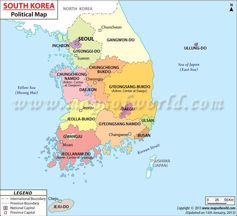 political map  south korea life  korea south korea