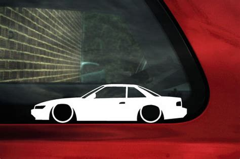 nissan silvia  coupe jdm outline silhouette