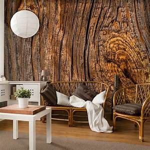 VLIES FOTOTAPETE 3D Holz TAPETE TAPETEN Schlafzimmer
