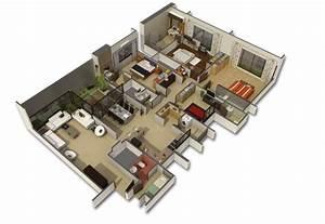 50 Four  U201c4 U201d Bedroom Apartment  House Plans