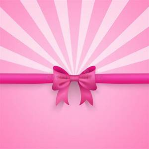 Birthday Greeting Card Background Design Romantic Pink Background With Cute Bow And Pattern Stock