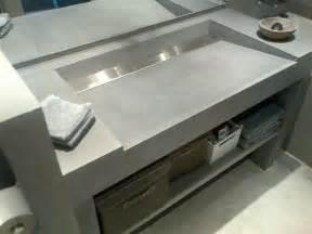 vasques beton inox brosse domozoomcom With salle de bain design avec evier salle de bain a poser