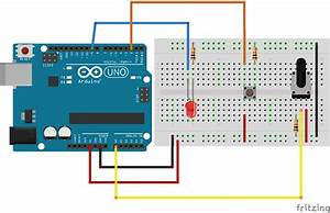 Button To Turn On  Off Potentiometer Controlled Led