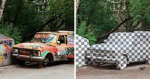 Carcasse De Voiture : ce street artiste russe cr e l 39 illusion d 39 utiliser photoshop dans la vraie vie ~ Melissatoandfro.com Idées de Décoration