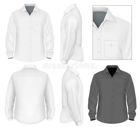 mens button  shirt long sleeve stock vector