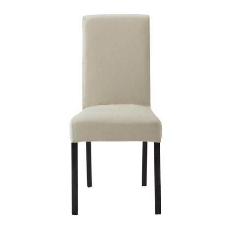 housse de chaise en coton mastic margaux maisons du monde