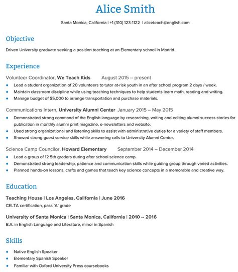 how to create an esl resume that will get you the