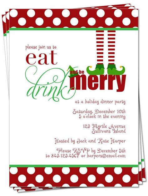30 best christmas invitations images on pinterest