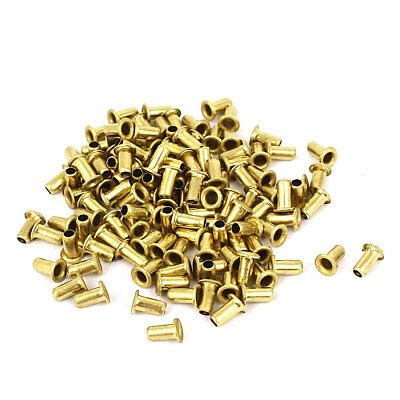 Pcs Brass Plated Rivets Hollow Grommets Pcb