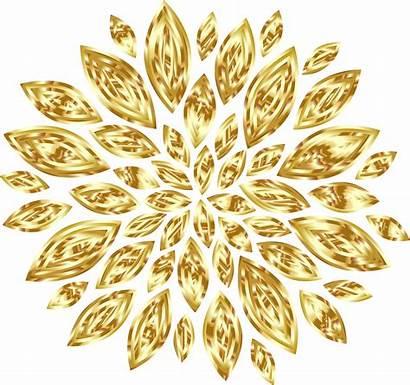 Gold Flower Flowers Clipart Yellow Petals Golden
