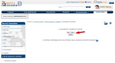Visure Catastali Gratis Per Codice Fiscale by Come Avere Visure Catastali Gratuitamente Con Fisco
