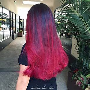 Deep Red Ombre - Hair Colors Ideas