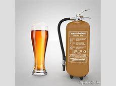 Durstlöscher Bier mit Bierglas und Löschgerät SprücheSuche