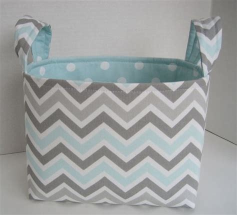 Grey And White Chevron Fabric by Large Aqua Mist Gray And White Chevron Fabric Basket