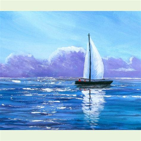 sailboat painting ideas  pinterest sunset drawing easy paint night