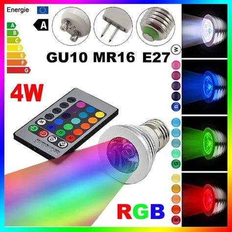 gu rgb led bulb light bombillas   color change   led lamp spotlight lampada