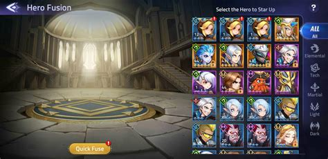 hero fusion work mobile legends adventure