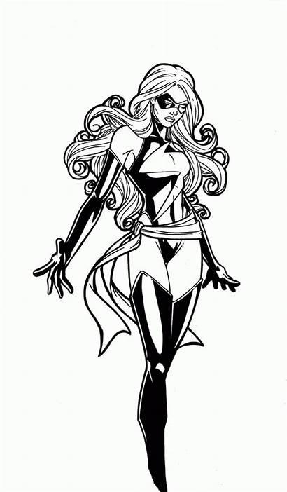 Marvel Ms Coloring Jamiefayx Deviantart Avengers Woman