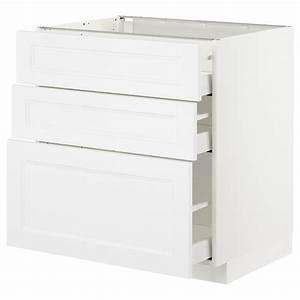 Ikea Metod Unterschrank : metod unterschrank mit 3 schubladen wei axstad matt ~ Watch28wear.com Haus und Dekorationen