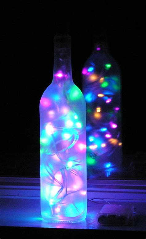wine bottle lights 26 wine bottle crafts to your guests beautifully