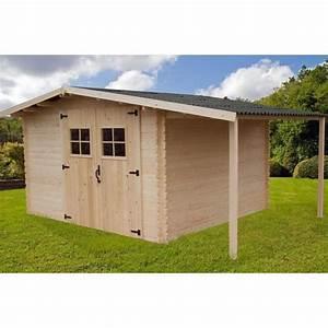 Abri De Jardin Avec Bucher : abri de jardin avec b cher 14 80m en bois massif ~ Dailycaller-alerts.com Idées de Décoration