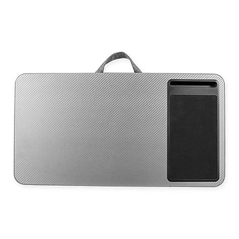 where to buy a lap desk buy deluxe laptop lap desk in silver from bed bath beyond