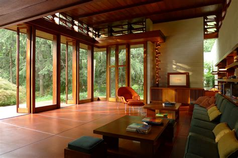J Wright Home Design : Frank Lloyd Wright Usonian House, The Bachman Wilson House