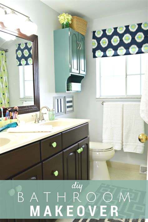 Diy Bathroom Makeover Reveal  Mad In Crafts
