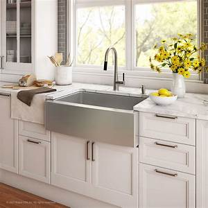 kraus 36 inch farmhouse double bowl stainless steel With 36 inch farm sinks for kitchens