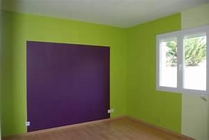 decoration maison peinture murale salon With peinture murale interieur maison
