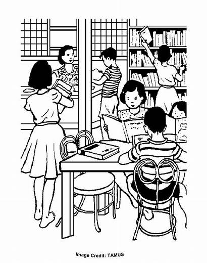 Classroom Colouring Pages Coloring Clipart Printable Sheets
