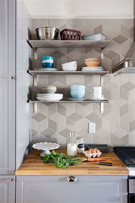 edgy geometric kitchen backsplashes   inspired