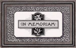 the lothians in memoriam further victorian 39in memoriam With in memoriam cards template
