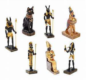SET OF SEVEN ANCIENT EGYPTIAN GOD ANUBIS THOTH SETH HORUS ...