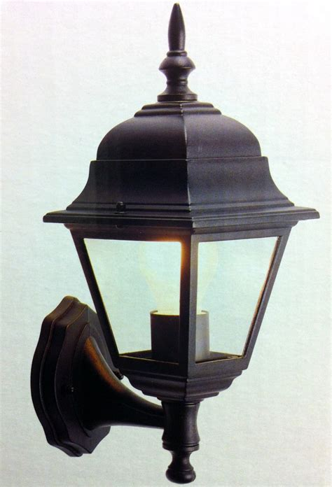 outside light porch security garden wall lantern black or