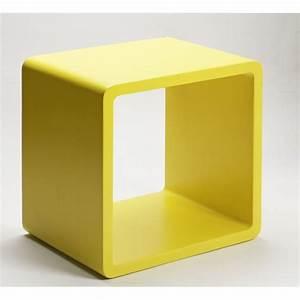 Table De Chevet Cube : table de chevet jaune ~ Teatrodelosmanantiales.com Idées de Décoration