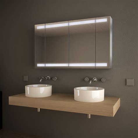 Badezimmer Spiegelschrank Auf Mass by Spiegelschrank Alu Nach Ma 223 Mit Led Beleuchtung