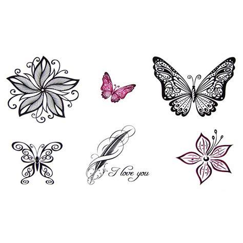 tatouage temporaire  ephemere papillon dentelle