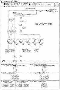 1991 Mazda B2600i Wiring Diagram  Parking Marker  U0026 Tail Lights