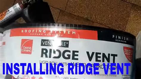 installing ridge venttips  hints youtube