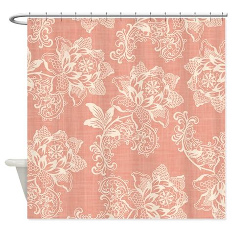 shabby chic soft floral damask shower curtain by nature tees