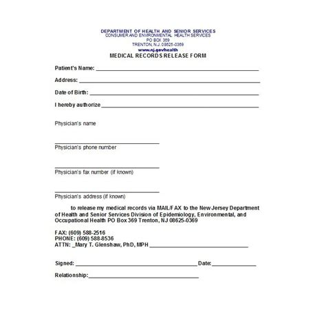 medical records release form template 30 medical release form templates template lab
