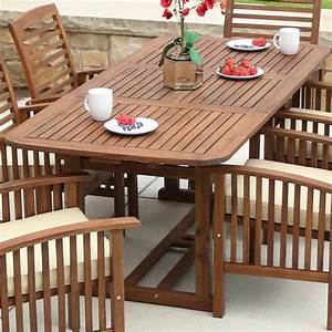 Walker, Edison, Furniture, Company, Boardwalk, Dark, Brown, Acacia, Wood, Extendable, Outdoor, Dining, Table