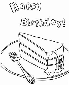 free printable birthday coloring pages - birthday cake coloring pages free printable pictures
