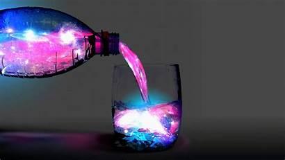 Galaxy Liquid Cosmos Bottles Wallpapers Desktop Background