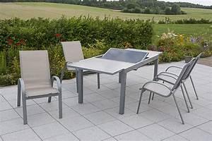 Merxx Gartenmöbel Set : merxx gartenm bel set amalfi 5 teilig ausziehtisch 140 200 x 90 cm silber champagner ~ Frokenaadalensverden.com Haus und Dekorationen
