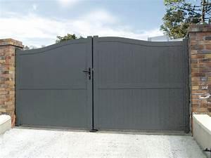 Portail En Aluminium : cesson portail battant en aluminium contemporain klosea ~ Melissatoandfro.com Idées de Décoration