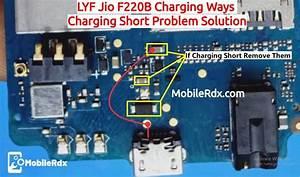 Lyf Jio F220b Charging Ways Charging Short Problem