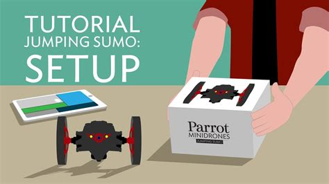 parrot jumping sumo tutorial  setup youtube